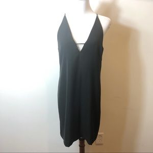Zimmermann black v-neck sleeveless dress 0